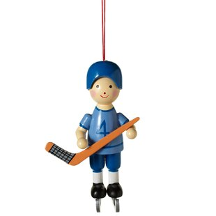 hockey player christmas ornament
