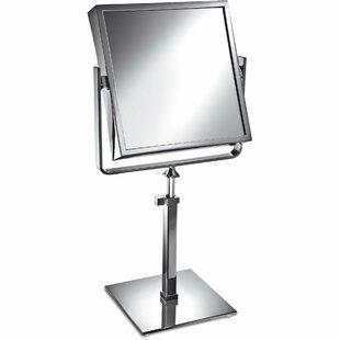 Latitude Run Matchett Square Double-Sided Makeup/Shaving Mirror