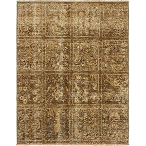 Sela Traditional Vintage Persian Hand Woven Dyed Wool Brown Area Rug