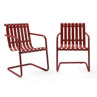 Mercury Row Erato Stainless Steel Chair (Set of 2)