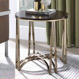 Marsden Cross Legs End Table by Everly Quinn