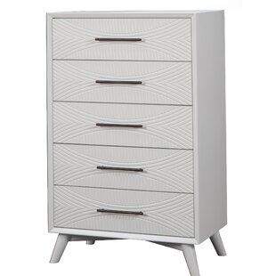 Brayden Studio Crowe 5 Drawer Dresser