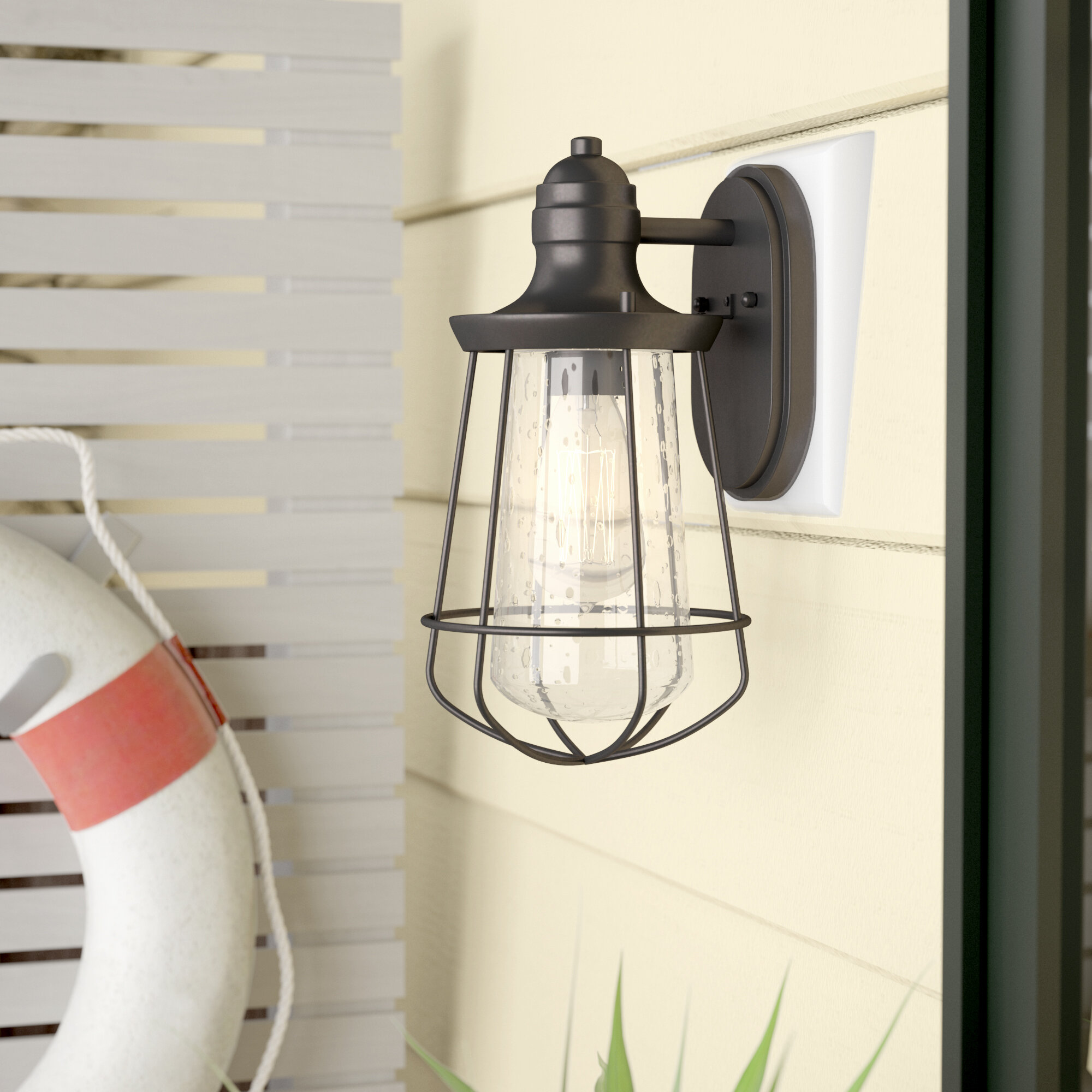 Breakwater bay windon 1 light outdoor wall lantern reviews wayfair