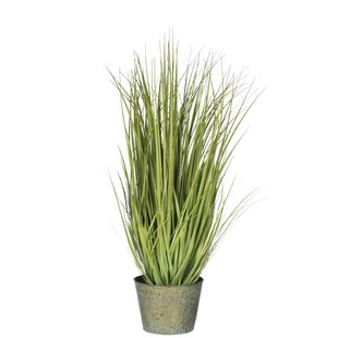 2 Artificial Onion Grass In Planter Set By The Seasonal Aisle