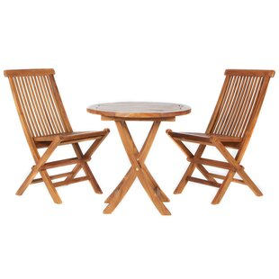 Humphrey 3 Piece Teak Bistro Set by Longshore Tides Sale