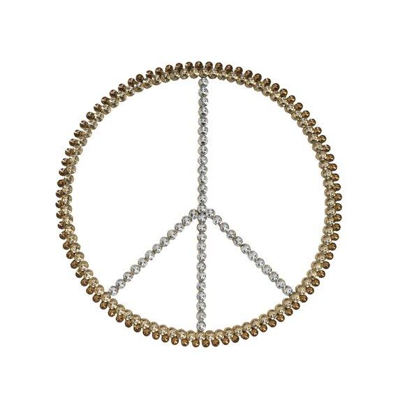 Tripar 3-Tone Acrylic Bling Peace Sign Wall Décor & Reviews | Wayfair