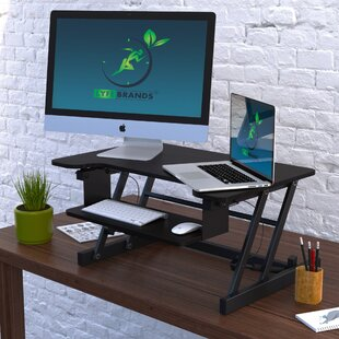 Carla Standing Desk Converter by Symple Stuff 2019 Sale