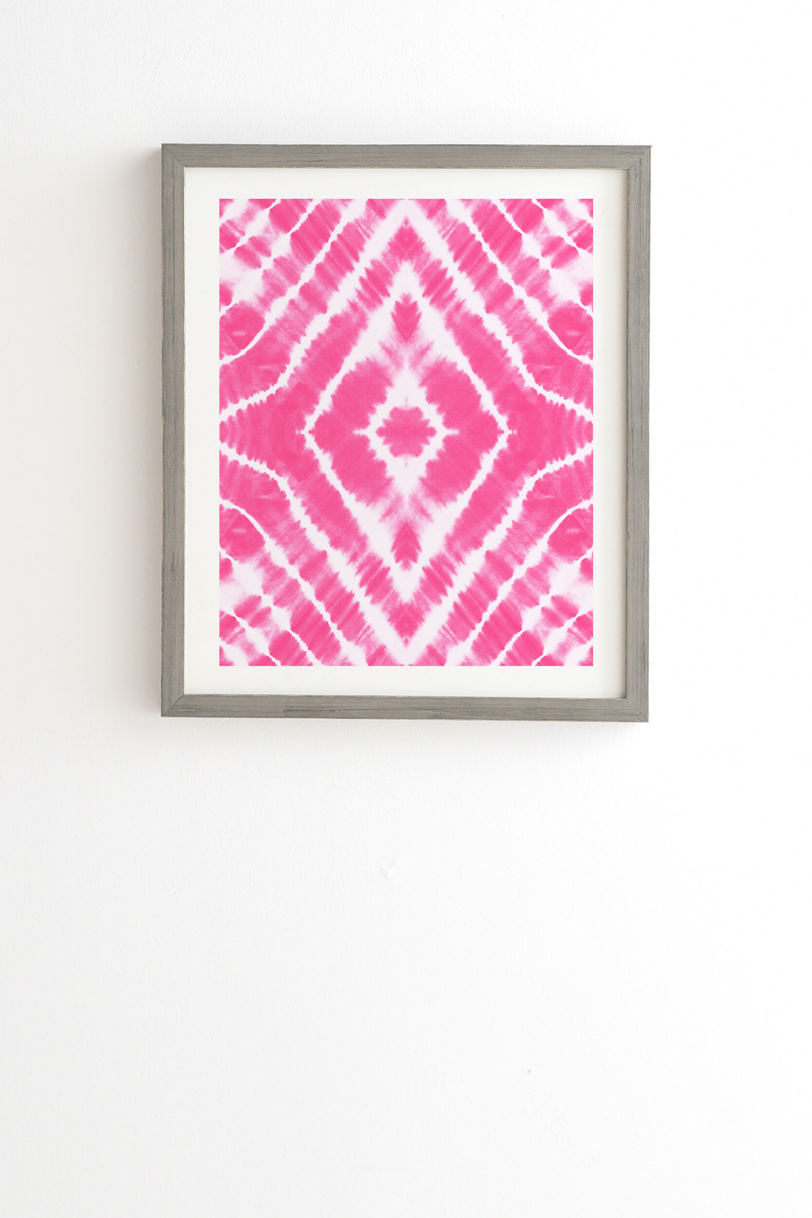 East Urban Home Wake Up Call Hotpink Picture Frame Graphic Art Print On Wood Wayfair