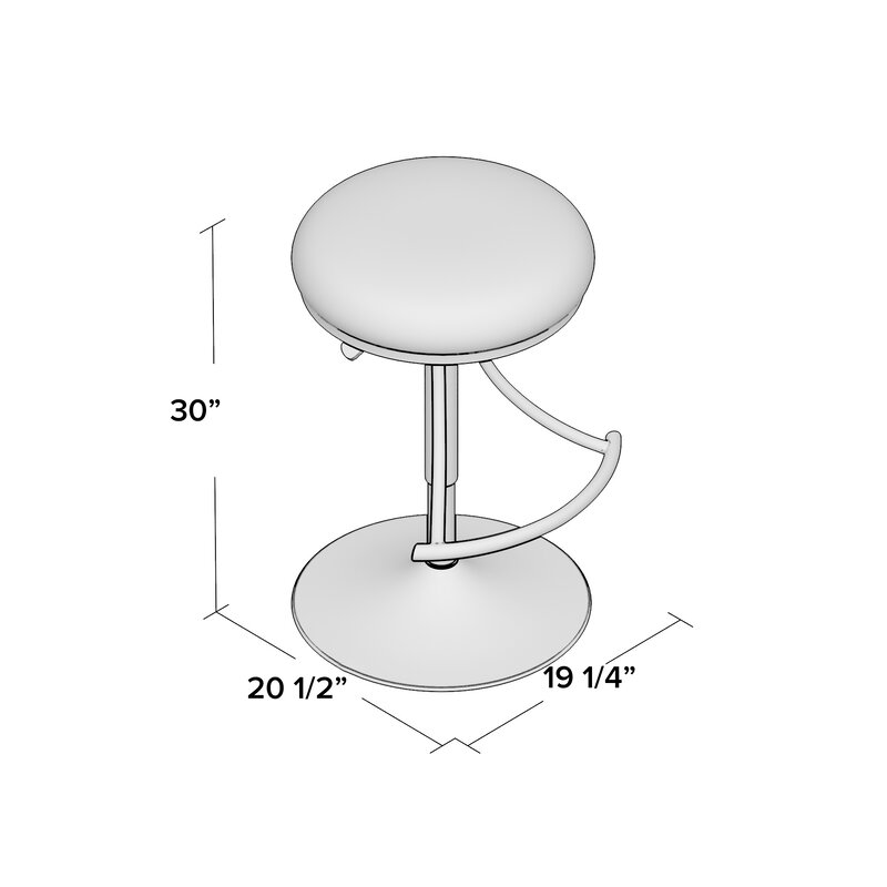 Elon Adjustable Height Swivel Bar Stool
