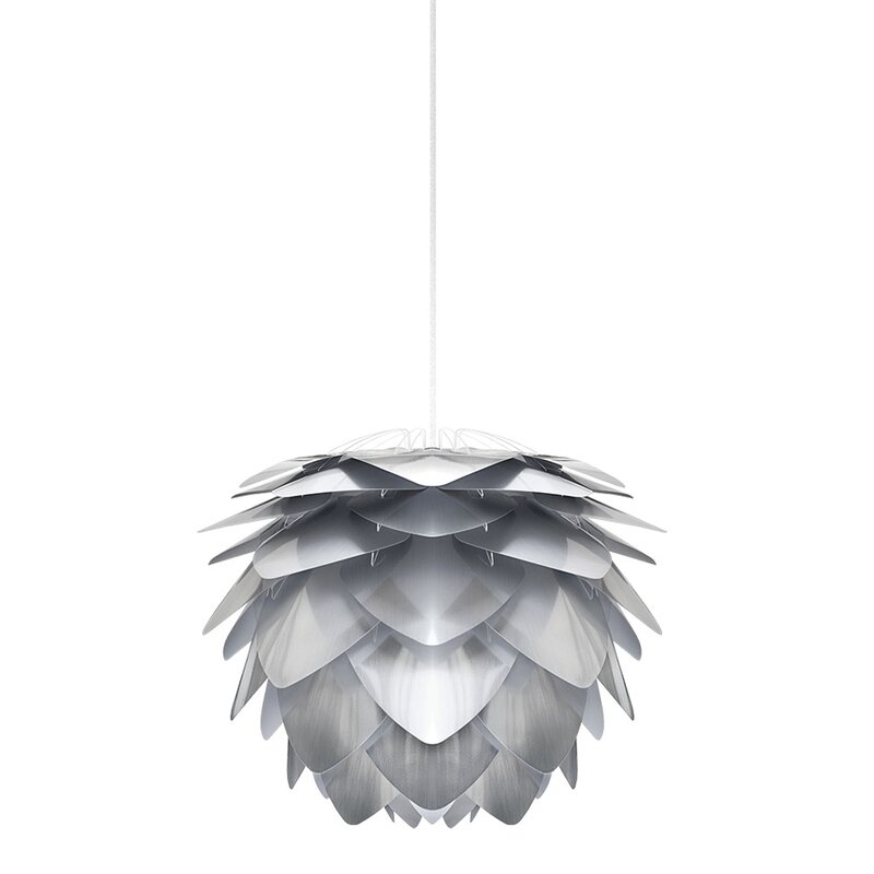 """Mercury Row  Westerberg 1-Light Novelty Pendant Cord/Cable Finish: White, Size: 10.6"""" H x 13.4"""" W x 13.4"""" D, Finish: Steel"""