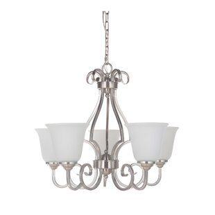 Alcott Hill Hollingshead 5-Light Shaded Chandelier