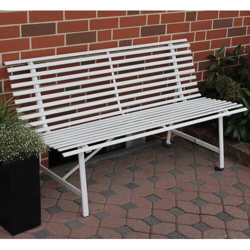 Gartenbank Ruskin aus Stahl | Garten > Gartenmöbel > Gartenbänke | Elfenbeinfarben | Metall - Korbgeflecht - Lack | Garten Living