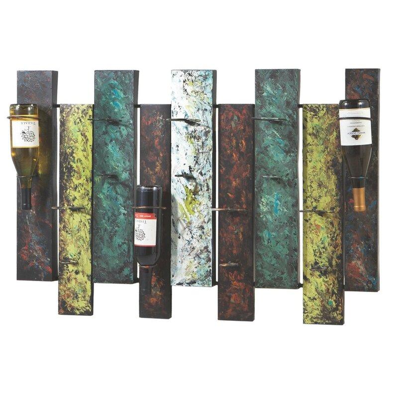 Unique Wine Racks | Albarado 9 Bottle Wall Mounted Wine Rack