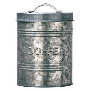 Rustic Kitchen Galvanized Metal 2.2 qt. Coffee Jar