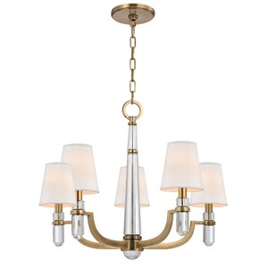 Everly Quinn Abels 5-Light Shaded Chandelier