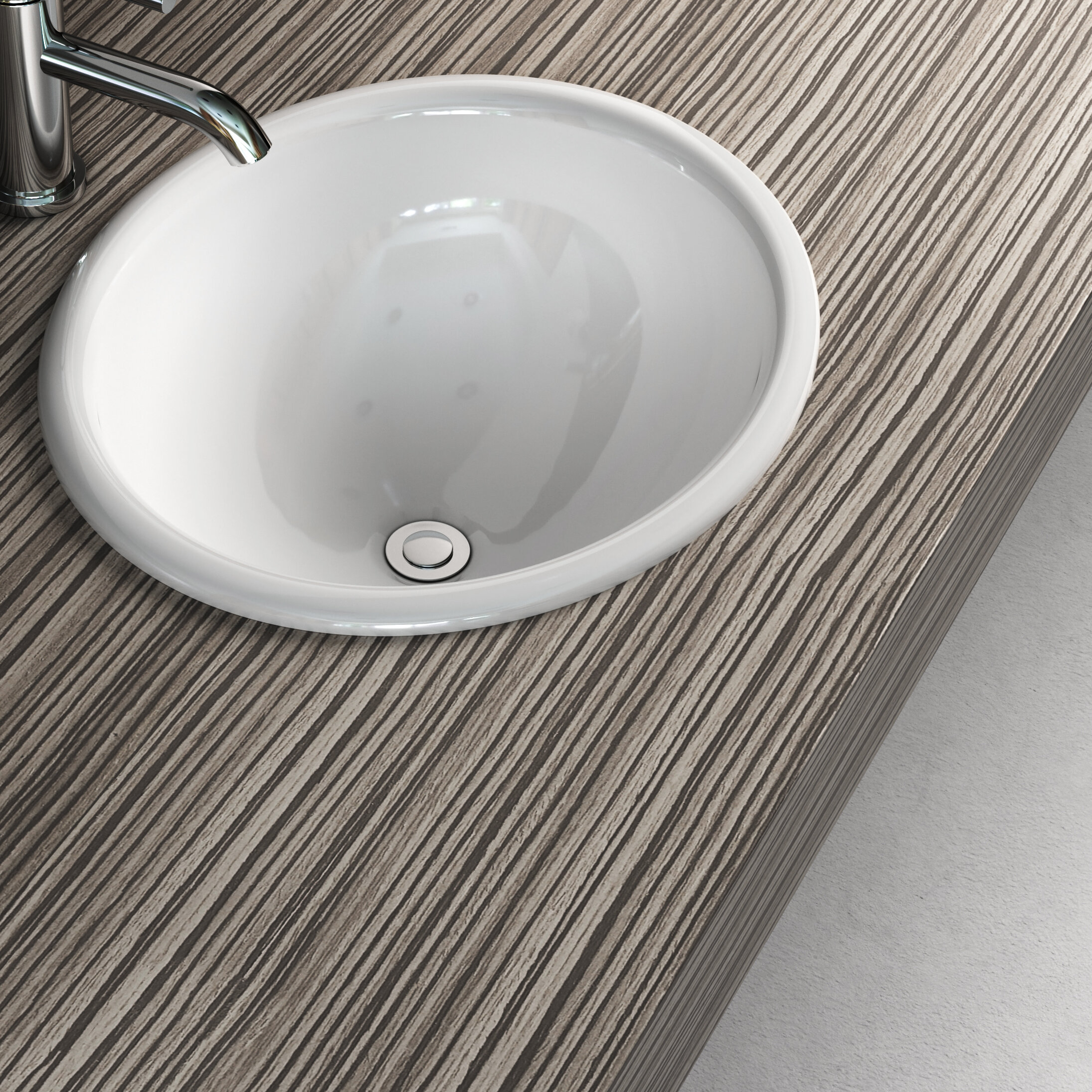 Cantrio Koncepts Oval Drop In Bathroom Sink Reviews Wayfair