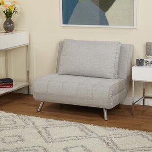 Brayden Studio Light Gray Futon Chair