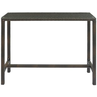 Rosenberry Patio Wicker Bar Table