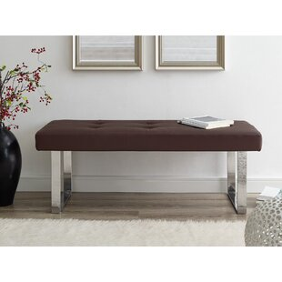 Orren Ellis Lord Faux Leather Bench