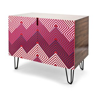 Margarito Geometric Patterned Wooden 2 Door Accent Chest by Ivy Bronx