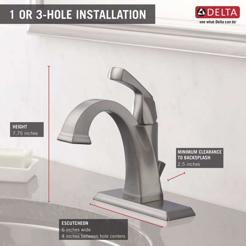 Delta Dryden Single hole Bathroom Faucet with Drain embly and ... on 4 hole bridge kitchen faucet, delta sink faucet drain parts, delta compel shower hardware, delta bath faucets, delta sink drain assembly, delta bathroom faucets brushed nickel, delta pewter faucets, delta stainless faucets, types of delta shower faucet, industrial lavatory faucet, delta shower faucet bronze, delta 3 handle shower faucet, delta single hole bar faucet, delta bathroom faucets brand, delta bathtub faucet diagram single, delta sink faucets bathroom, single hole lav faucet, stainless single handle vessel faucet, delta addison in bathroom, single hole bath faucet,
