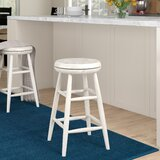 Wolfgang Medium Swivel Stool by Charlton Home®