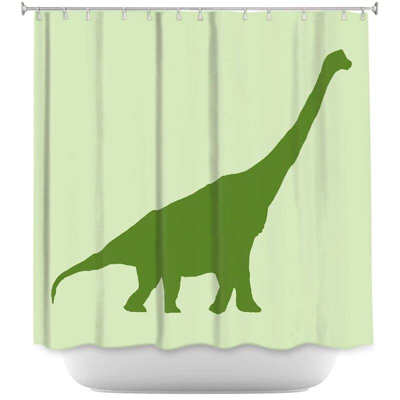 Harriet Bee Dodson Dinosaur I Single Shower Curtain Wayfair