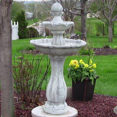 Solar 2 Tier Fountain With Led Light