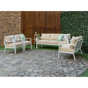 Mcclain Outdoor 4 Piece Sofa Seating Group with Cushions