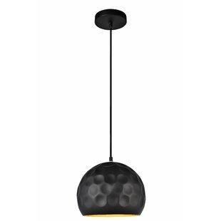Matte black pendant light wayfair reinhold 1 light mini pendant in matte black mozeypictures Gallery