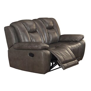 Leonid Leather Reclining Loveseat by Red Barrel Studio