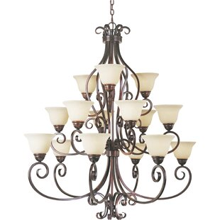 Amelia 15-Light Shaded Chandelier by Darby Home Co