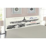 Eiffel Tower Upholstered Panel Headboard by East Urban Home