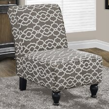 Bell Fabric Traditional Slipper Chair by Monarch Specialties Inc.