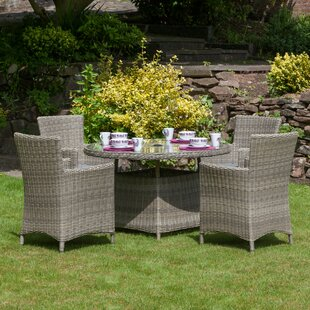 Riverton 4 Seater Dining Set With Cushions By Sol 72 Outdoor