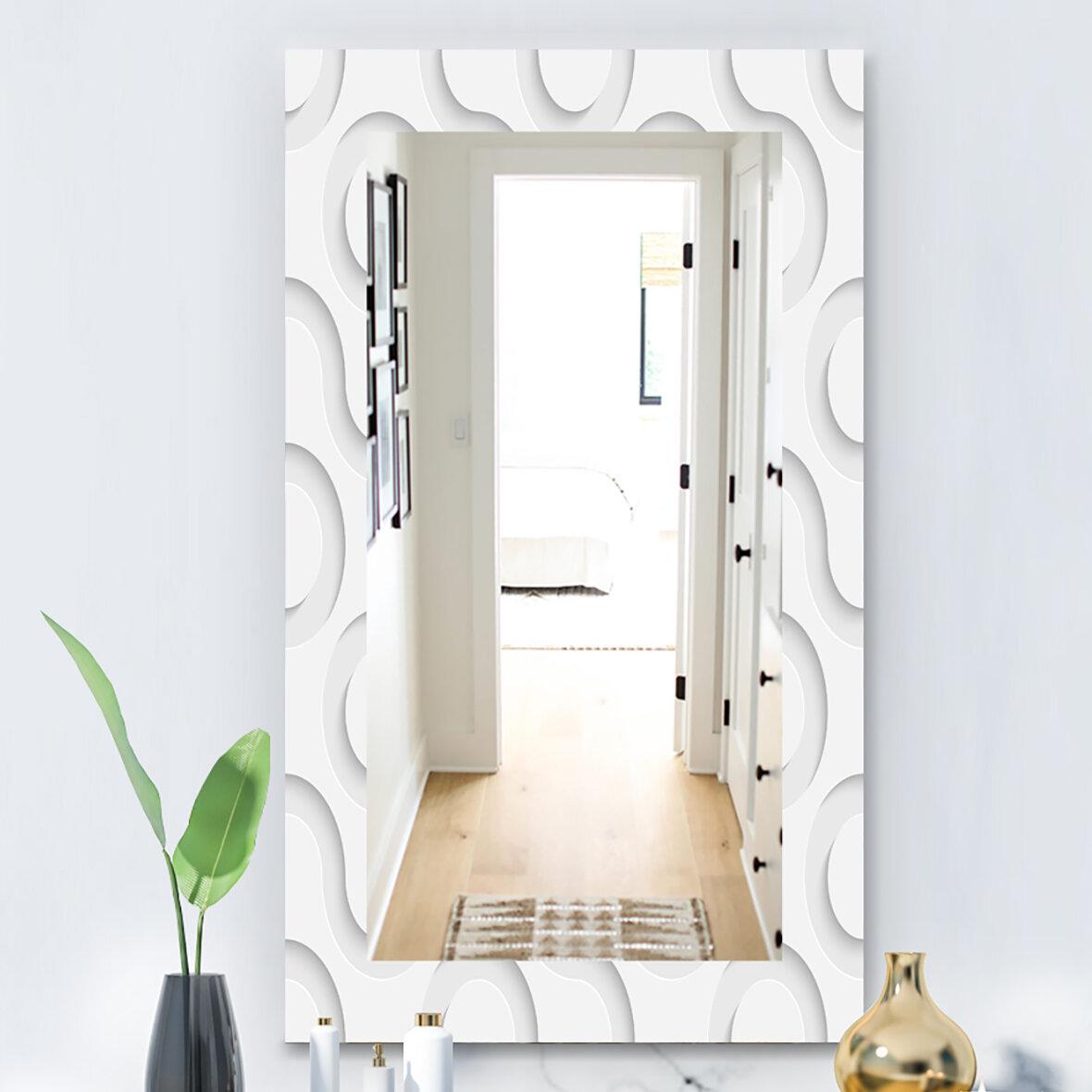 Picture of: East Urban Home Scandinavian 15 Mid Century Modern Wall Mirror Wayfair