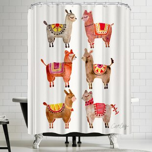 Alpacas Single Shower Curtain