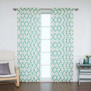 Save to Idea Board Sheer Moroccan Curtains Wayfair  Fancy Plush Design Moorish Tile Curtain Home Plan