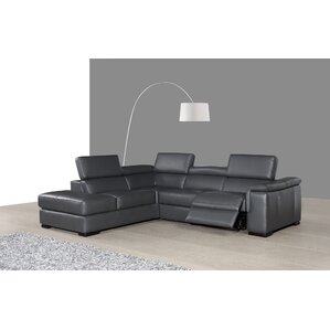 Wade Logan Catawissa Leather Reclining Sectional