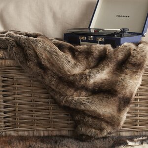 Celeste Desert Faux Fur Throw