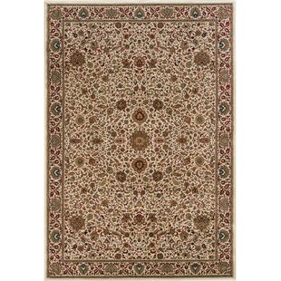 Best Reviews Shelburne Traditional Ivory/Green Area Rug By Astoria Grand