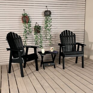 Deerpark Plastic/Resin Adirondack Chair with Table by Longshore Tides