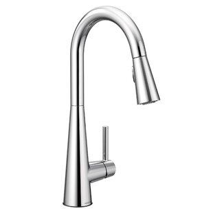 Review Sleek Pull Down Single Handle Kitchen Faucet with Duralock™, Power Clean™ and Reflex™ by Moen