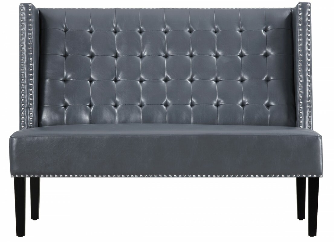 Lovely Halifax Faux Leather Banquette Bench