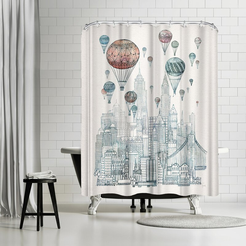 East Urban Home David Fleck Voyages Over New York Shower Curtain ...