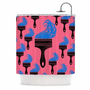 East Urban Home 'Paintbrush' Digital Shower Curtain