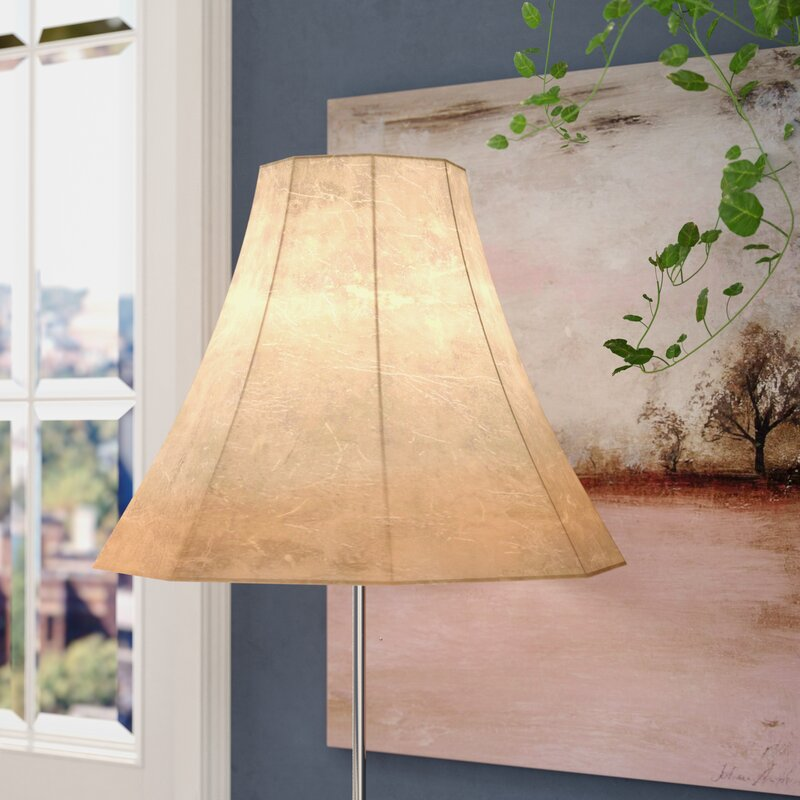 Faux leather bell lamp shade reviews joss main faux leather bell lamp shade aloadofball Choice Image