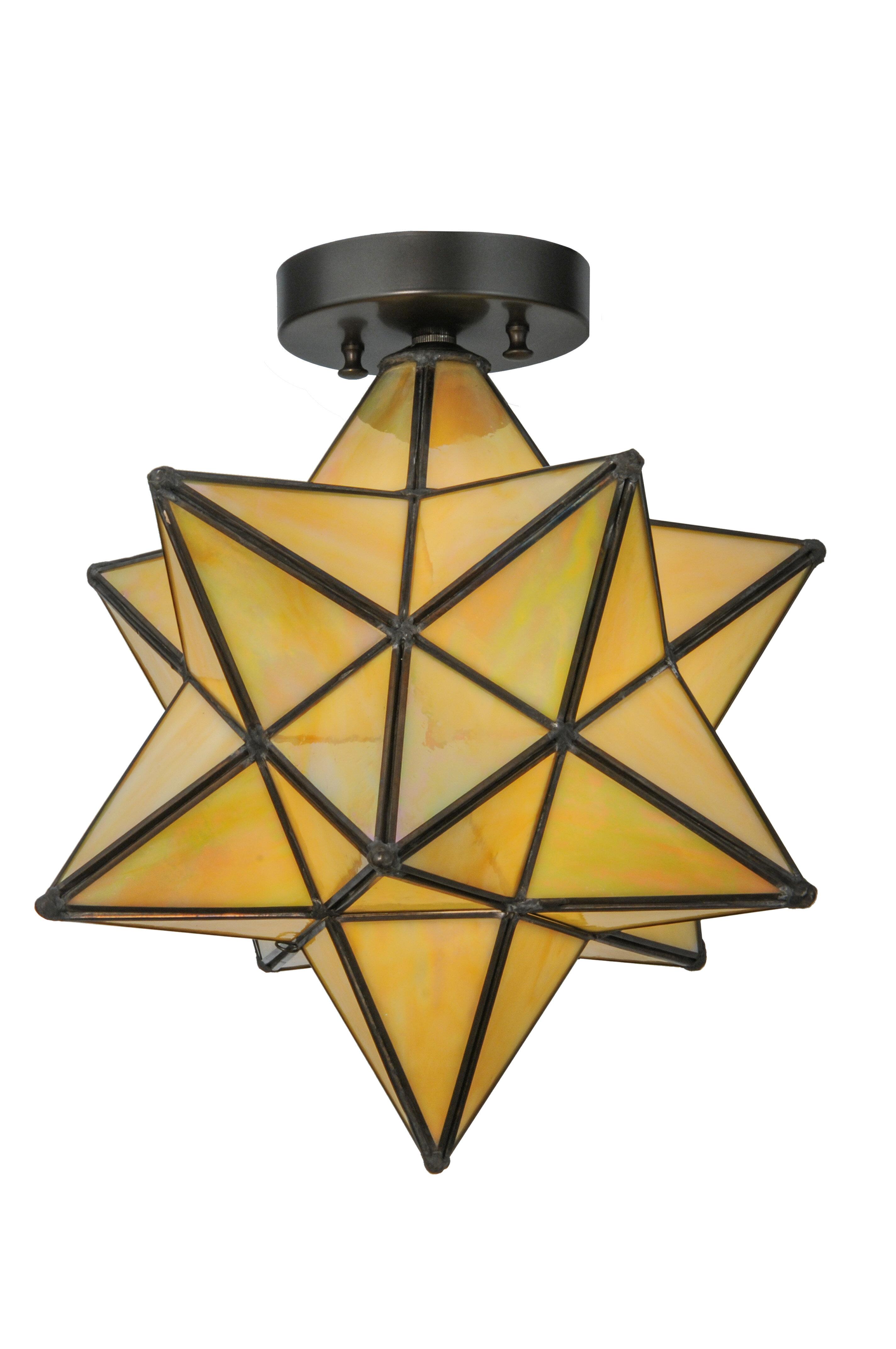 Moravian star 1 light flush mount