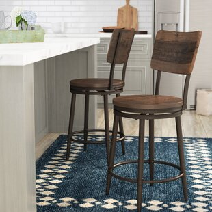 Cathie 26 Swivel Bar Stool Gracie Oaks