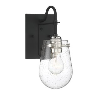 Hinkle Wall 1-Light Armed Sconce by Williston Forge